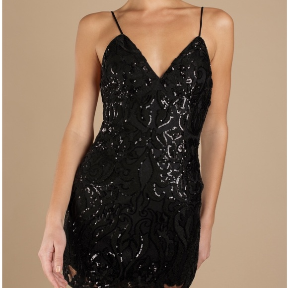 Tobi Dresses & Skirts - Black Sequin Bodycon Dress